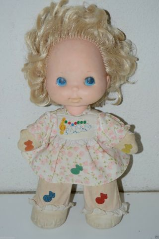 Wow Vintage Cloth Musical Mary Had A Little Lamb Doll Mattel 1974 Rare
