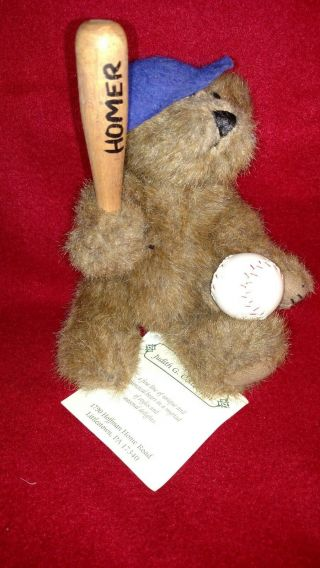 Homer.  Play Ball - Boyds Baseball Bears Judith G Exclusive Rare Teddy Bear