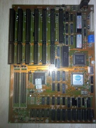 Suere Rare Pc - Chips M209 Motherboard,  Cs80c286 25mhz,  1mb Ram,  7 Isa.