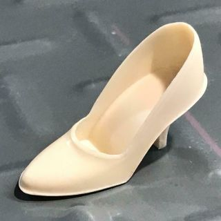 Vintage Japan Barbie Doll Single Shoe Off White Ivory Bone High Heel Rare Htf