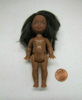 Barbie Kelly Doll African American Girl Bright Brown Eyes Mattel Loose Rare