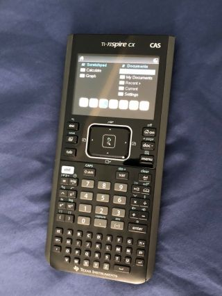 Texas Instruments Ti - Nspire Cx Cas Handheld Graphing Calculator.  Rarely