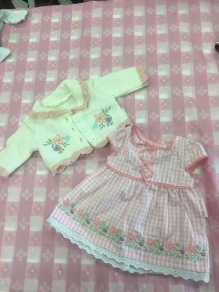 American Girl Bitty Baby Doll Clothes.  Dress And Sweater Set.  Rare