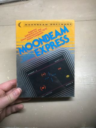 Nos Ti - 99/4a Rare Moonbeam Express Boxed Moonbeam Software Tape 1983
