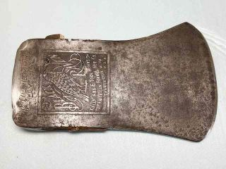 Rare Kelly Black Raven Embossed Face Axe Head