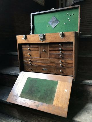 Ultra Rare Gerstner Oldsmobile Machinist Tool Chest - With Tools