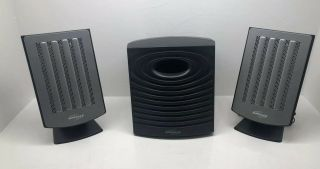 Rare Monsoon Multi - Media Planar 7 System Silver Flat Panel Speakers,  Subwoofer