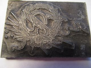 Antique Lead Letterpress Victorian Wedding/funeral Wreath Printing Stamp Goodluc