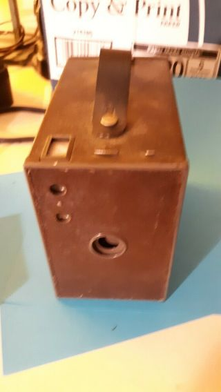 Eastman Kodak No 2a Model B Brownie Antique Box Camera Last Patent Date 1909