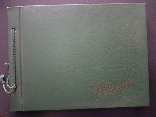 Vintage Photograph Album 1940s Book Photo Book Cover