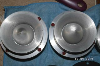 Rare Jbl 075 Bullet Pair 8 Ohm W/brackets All Red Seals 6.  1 On Both
