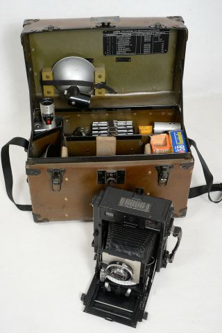 Rare Beseler C - 6 Us Air Force Military 4x5 Graflex Type Camera Full Set
