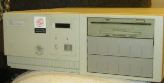 Rare Isa Slot Computer Dell 486/50 Mhz Dos 5 Windows 3.  1 Soundblaster Smartvu