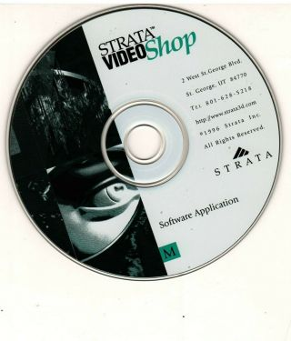 Strata Videoshop Video Shop Version 3d Video Editor Mac G3 G4 Rare Oop Powermac
