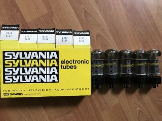Rare Nos Date Matched Boxed Sleeve Of 5 Sylvania Fat 6ca7/el34 Amplifier Tubes