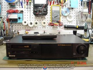 Sony Ev - S2000 8mm Hi8 Stereo Hifi Editing Vcr Rare - 90 Days