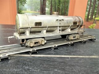 Ultra Rare 1 Of 5 American Flyer 3210 Factory Cadmium Plated O Gauge Tank Cars