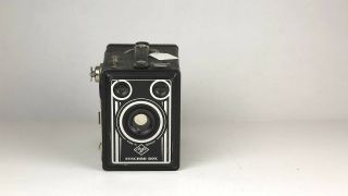 Antique Box Camera: Agfa Synchro Box Art Deco B6077