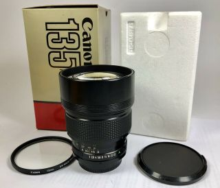 Canon Fdn 135mm F2 Like 95 Rare
