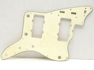 Vintage Cbs Fender Jazzmaster White Cream Celluloid Pickguard Rare Pearloid Back