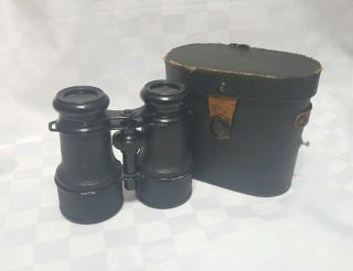 Antique Wwii Binoculars Made In Germany With Case