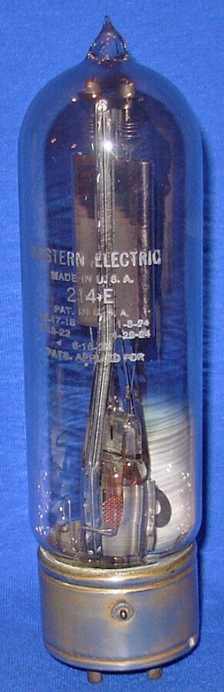 Rare Good Western Electric 214e Vacuum Tube With Nickel Base