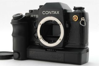 ◉rare Mint◉ Contax Rts Ii Slr Body Black Lizard Lether W/ Real Time Winder W - 3