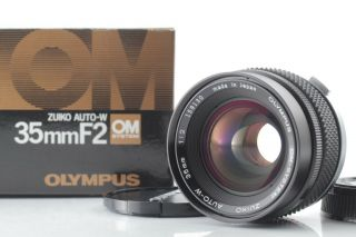 【 Rare Top Almost In Box】 Olympus Om Zuiko Auto - W 35mm F 2 Japan 618