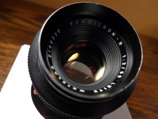 Rare Leica Summicron R 50mm F/2 Red Scale (best Version)