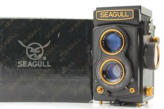 【rare Top In Box】seagull Gold Tlr 75mm F3.  5 Lens From Japan 829