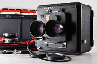 【rare N,  】wista 4x5 Large Format Tlr,  130mm Fujinon W 150mm Lens From Japan