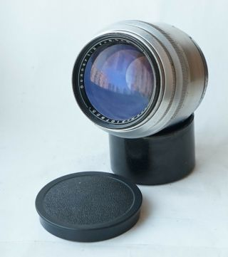 Rare Carl Zeiss Jena Sonnar Lens F2 85mm Red T Contax Rangefinder Telephoto