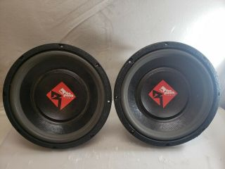 "Rockford Fosgate Punch Pwr - 412 12 "" Subs Old School Power Subs Subwoofers Rare"
