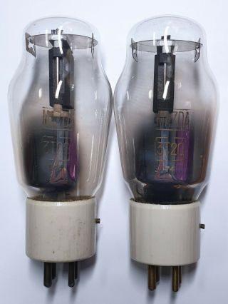 Two Rare Mazda 3 - T - 20 (type 801 / Vt - 62) Vacuum Tubes With Graphite Plate