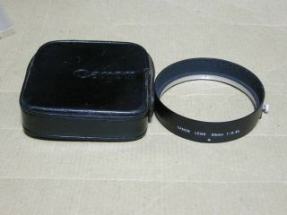Canon 50mm F0.  95 Dream Lens Hood With Case In Ex,  Very Rare