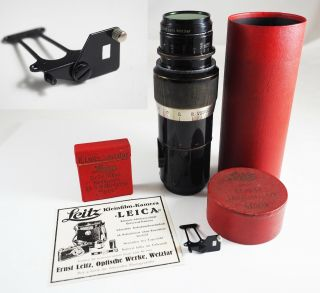 & Unmodified: A 1930 Leica 13.  5cm Elmar,  555,  A Rare Swinging Mask