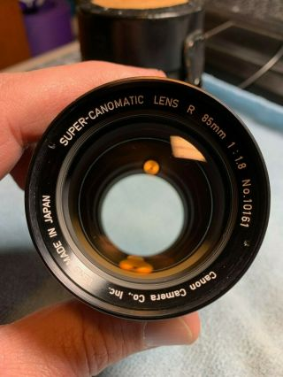 [rare Near Mint] Canomatic Lens R 85mm 1 : 1.  8 10161