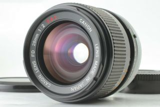 "Rare "" Optical "" Canon Fd 28mm F/2 S.  S.  C.  Ssc Wide Angle Lens Slr From Japan"