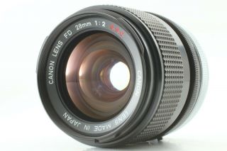 Rare 【 Exc5,  】 Canon Fd 28mm F/2 S.  S.  C Ssc Wide Angle Lens For Slr From Japan