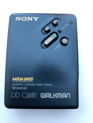 Extremely Rare Sony Wm - Dd33 Rare Color Blue,  Restored