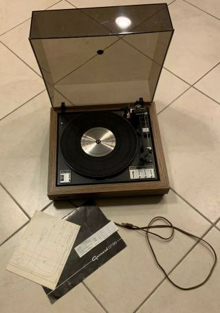 1976 Vintage Garrard Gt - 55 Stereo Turntable Great Complete Rare