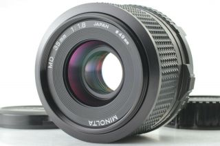 [mint Rare ] Minolta Md 35mm F/1.  8 W/ Hood Wide Angle Mf Lens From Japan