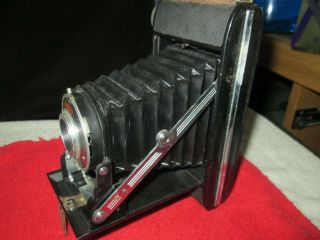 Antique Camera Ansco Viking,  With Old Leather Case And Box