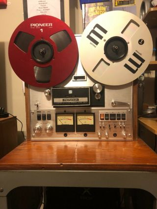 Rare Pioneer Rt 1020h 4 Track 10.  5 Inch Stereo Reel To Reel Tape Deck Recorder