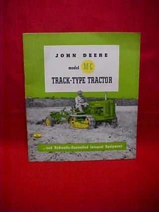 "Vintage John Deere "" Model Mc "" Track Type Tractor,  Made In The U.  S.  A."