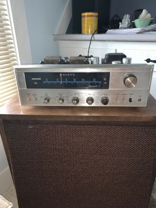 Hh Scott Stereomaster 345 Tube Receiver Rare Paperwork Collector
