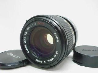 "Rare [mint] Canon Fd 35mm F2 S.  S.  C "" O "" Concave Ssc Wide Angle Lens From Japan"