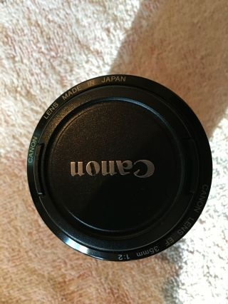 Canon Ef 35 Mm F/2.  0 Is Ums Wide Angle Lens,  Hood Cover.  Rarely.