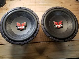 "Rockford Fosgate Punch Power 10 "" Subwoofers Old School Rare"