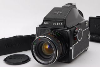 【 Exc,  】mamiya M645,  Rare Lens Secor Ce 70mm F2.  8 W/waist Level Finder From Jp